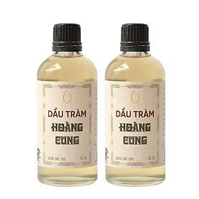 Combo 2 chai tinh dầu tràm Huế - dầu tràm Hoàng Cung 50ml (chai thủy tinh)