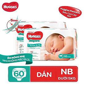 Biểu đồ lịch sử biến động giá bán Combo 2 tã dán Huggies Diapers Platinum NB60