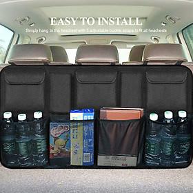 Car Back Seat Organizer with Pockets Seat Back Bag Barrier of Backseat Kids Children Pet Dog Tissue Handbag Purse Holder
