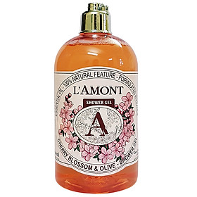 Sữa Tắm L'amont En Provence Cherry Blossom Shower Gel Hương Hoa Anh Đào Chai 500ml