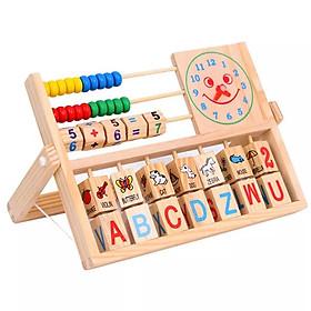 Đồ Chơi Gỗ Thông Minh,Kệ Học Chữ Cái Tiếng Anh Và Phép Tính Theo Phương Pháp Montessori