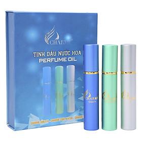 Set 3 Chai Nước Hoa Tinh Dầu Nam Charme (Cool Water, Guility, Iris) Charme-NHM-Set01 (10ml/Ống)