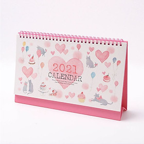 Lịch Để Bàn 2021 Dessert House Cat Desk Calendar