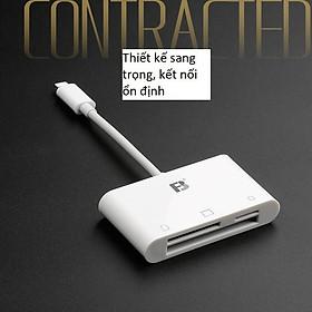 Đầu đọc thẻ nhớ CF SD microsd cho điện thoại iphone, ipad - Cáp OTG 3 in 1