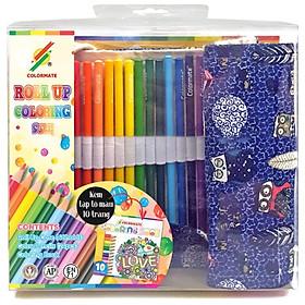Bộ Bút Chì Màu Roll Up Coloring Set Colormate 11697