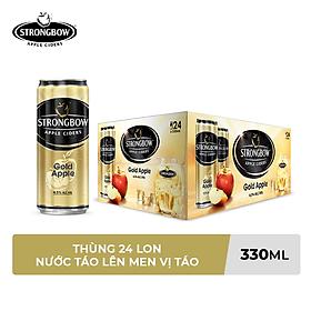 Thùng 24 Lon Cao Strongbow Vị Táo Nguyên Bản (330ml / Lon)