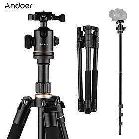 Andoer 164cm / 64.57in Chân máy chụp ảnh Chân đế Monopod Hợp kim nhôm 360 ° Đầu bi xoay 8kg Khả năng chịu tải với Túi đựng cho Máy ảnh DSLR Máy quay phim
