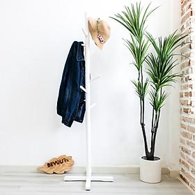 Cây Treo Quần Áo Gỗ Standing Hanger Nội Thất Kiểu Hàn BEYOURs - Trắng