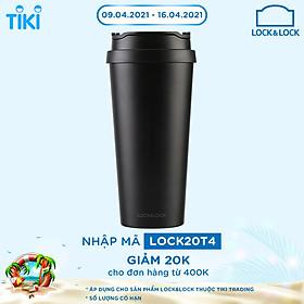 Ly Giữ Nhiệt Bằng Thép Không Gỉ Lock&Lock Clip Tumbler LHC4151BLK (540ml) - Đen