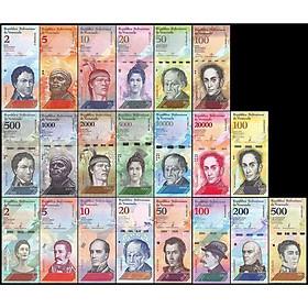 Combo bộ tiền cổ lạm phát của Venezuela 21 tờ, 1 trong những bộ đẹp nhất thế giới