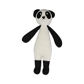 Thú bông bằng len Gấu panda Lular trắng thân dài - sản xuất thủ công handmade in Việt Nam - chất liệu 100% cotton, hàng chính hãng xuất khẩu, phù hợp mọi lứa tuổi