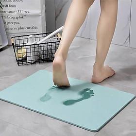 Thảm Đá Siêu Thấm Nước Công Nghệ Nhật Bản - Thảm Lau Chân, Thảm Phòng Tắm - Đặt Chân Lên Là Khô Ngay