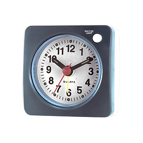 Ascending Sound Small Travel Alarm Clock with Snooze Nap and Light