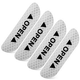 Bộ 4 Miếng Dán Phản Quang Sticker Dán Cảnh Báo Mở Cửa Cho Ô tô, Xe Hơi Giúp An Toàn Khi Mở Cửa Xe Mai Lee