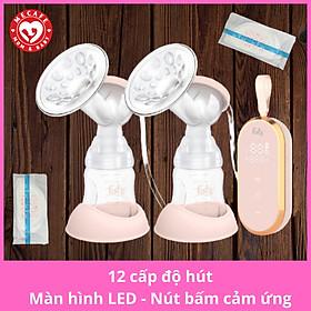Máy hút sữa điện đôi fatzbaby với 12 cấp độ hút màn hình LED nút bấm cảm ứng mang lại cho các mẹ cảm giác sang trọng và êm ái + tặng 2 miếng lót thấm sữa Sunmum