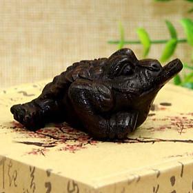 Tượng gỗ Cóc thiềm thử tẩm trầm hương ALCC