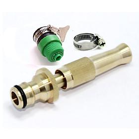 Vòi nước vòi phun nước rửa xe tưới cây tăng áp thông minh đầu đồng 206587 kèm cút và đai