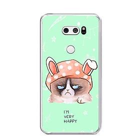 Ốp lưng dẻo cho điện thoại LG V30 - 0013 MEOGRUMPY - Hàng Chính Hãng