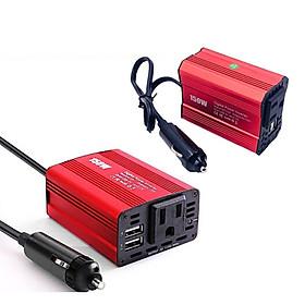 Bộ Chuyển Nguồn 12V ra 220V Dùng Trên Ô Tô Công Suất 150W với 2 Cổng Sạc USB 1A và 2.1A AnZ