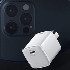 Củ sạc cho iPhone 12 / 12 Pro Max hiệu Remax Type-C sạc nhanh chuẩn PD 20w - Hàng nhập khẩu