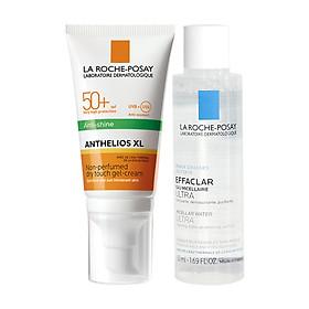 Bộ chống nắng kiểm soát dầu La Roche-Posay Anthelios XL Dry Touch 50ml & Nước tẩy trang 50ml