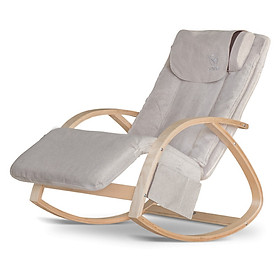 Ghế Massage Thế hệ mới - Vừa mát-xa vừa thư giãn Đồng thời là sản phẩm trang trí nhà cửa - Kích thước nhỏ gọn - Màu Be nhã nhặn - Thiết kế Hiện đại, trẻ trung