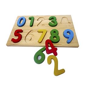 Bảng Học Chữ Số Từ 0-9 Bằng Gỗ