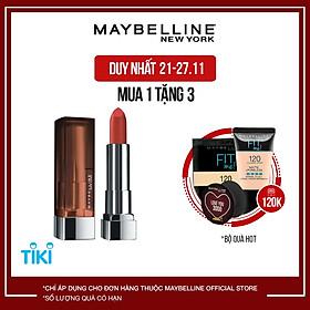 Son Lì Mịn Môi Không Khô Môi Maybelline New York Color Sensational The Creamy Mattes Lipstick 3.9g