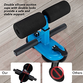 Portable Sit Up Bar with Double Suction Cups Push Up Trainer with 4 Adjustable Heights Muscle Training Equipment-2