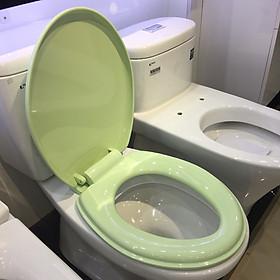 Nắp nhựa màu xanh cốm cao cấp thay thế cho các loại bồn cầu AMERICAN - VIGLACERA - TOTO.. thân ngắn