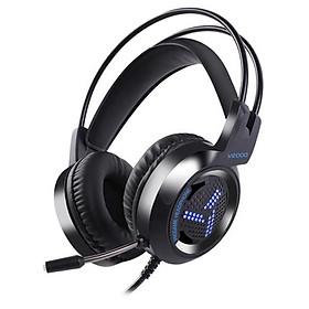 Tai nghe chụp tai/tai nghe chơi game/tai nghe gaming v2000 đèn LED bar bass,Hỗ trợ nghe hơi thở và bước chân kẻ địch,máy tính bàn và máy tính bảng,tai nghe chuyên dùng cho game thủ BattleGrounds,Crossfire