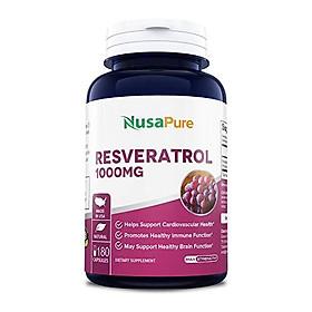 Resveratrol & Polyphenol Complex 1330 mg 180 Vegetarian Caps (Non-GMO & Gluten Free) + Vitamin C - Promotes Heart Health and Balances Blood Pressure, Helps Balance Hormones