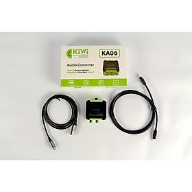 Bộ chuyển đổi âm thanh KIWI từ Optical sang Analog KA-06 - Hàng chính hãng