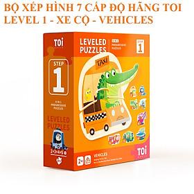 Bộ xếp hình nâng cao 7 cấp độ 17 chủ đề cho trẻ từ 12 tháng tuổi trở lên chính hãng TOI WORLD Advanded Puzzle 7 Level