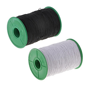 2Pack 500 Meters Strong Stretchy Elastic Cord Thread DIY Crafting White Black