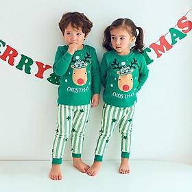 Jeong Ttasom Đồ ngủ trẻ em 100%cotton chủ đề Giáng sinh - hình tuần lộc - TT003