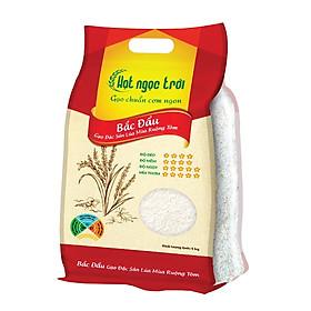 Gạo Hạt Ngọc Trời Bắc Đẩu Túi 5kg - Gạo Đặc Sản Lúa Mùa Ruộng Tôm