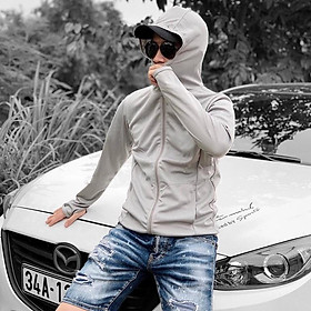 Áo chống nắng CUỘN NAM THIẾT KẾ Tay áo có lỗ xỏ ngón rất tiện lợi cho việc lái xe