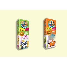 Combo 2 hộp Nhà thông thái 4-5 tuổi, 5-6 tuổi