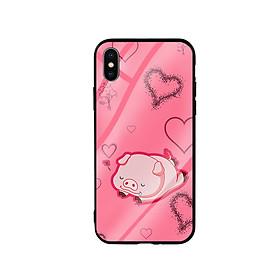Hình đại diện sản phẩm Ốp Lưng Kính Cường Lực cho điện thoại Iphone X / Xs - Pig Sleep