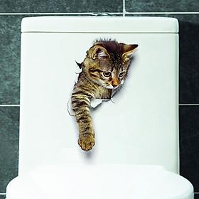 Sticker Dán Tường Trang Trí DIY 3D Cat Xh2001