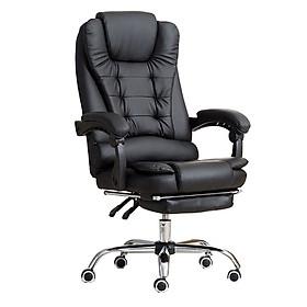 Ghế văn phòng xoay 360 độ có kê chân và massage E-Dra EOC2000  - Hàng Chính Hãng - Nâu