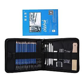 Pro Sketching Pencil Set Graphite Charcoal Pencil Drawing Tools Kit Art Set