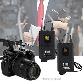 XTUAG CM4 professional UHF Wireless Lavalier Microphone system , 30 frequencies can be selected ,Perfect for interview /outdoor /recording /teaching/DSLR cameras