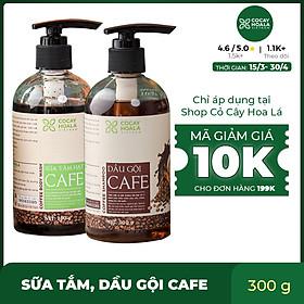 Combo dầu gội sữa tắm chiết xuất cà phê, sạch gàu, khử mùi cơ thể, tẩy tế bào chết Cocayhoala 300g