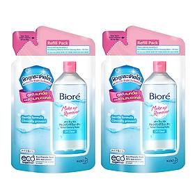 Combo 2 Túi Siêu Tiết Kiệm Nước Tẩy Trang Hoàn Hảo Sạch Nhờn Biore Makeup Remover Perfect Cleansing Water Oil Clear (250ml/túi)