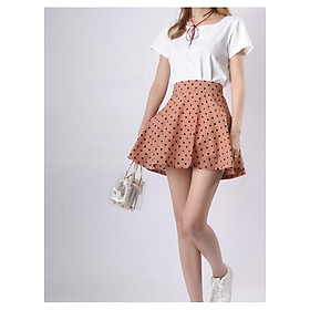 Chân váy xòe chấm bi đáng yêu - Free Size