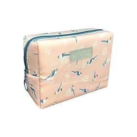 Túi Đựng Đồ Trang Điểm Hình Chim TNTT0113 (16 x 12 cm) - Hồng