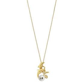 Dây Chuyền Galatea Jewelry Diamond In A Pearl 4136.04YW - Trắng