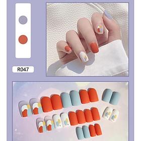 Bộ 24 móng tay giả nail thơi trang như hình (R-047)